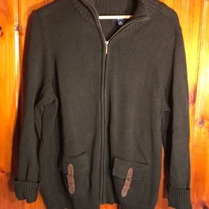 Chaps X Large Zip Up Long Sleeve